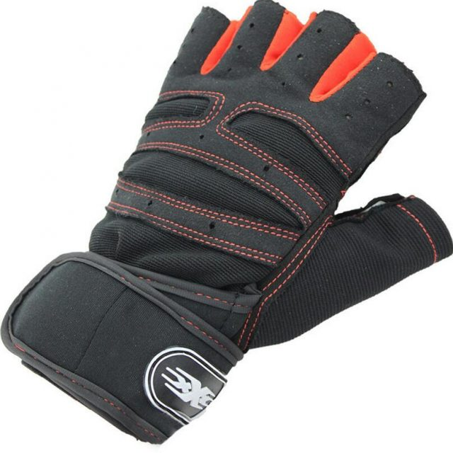 Men's Half Finger Gloves with Silicone Pads